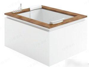 Wooden Luxury Bathub 3D Model