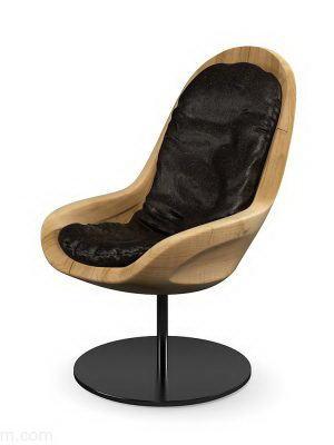 Wooden Office Chair 3D Model