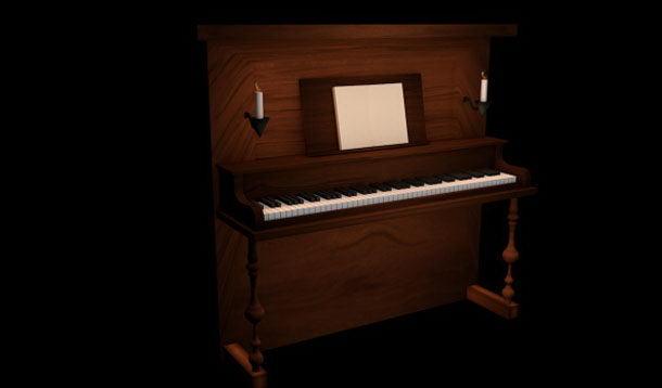 Wooden Piano 3D Model