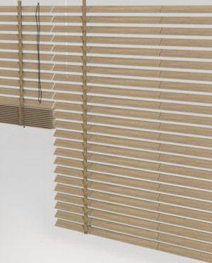 Wooden Window Blinds 3D Model