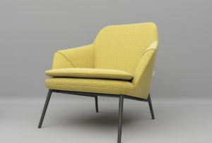 Yellow Texture Armchair 3D Model