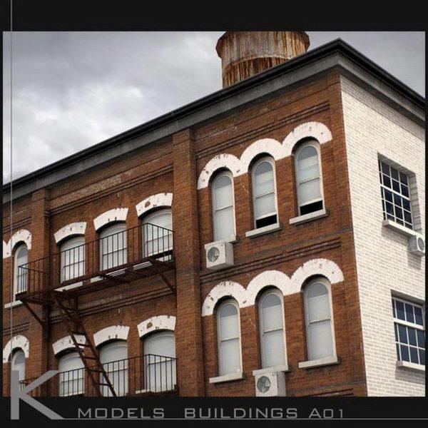Building Exterior Collection Set 3D Model