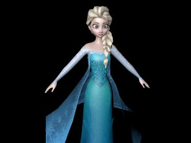 Elsa Rig 3d model - Free C4D Models