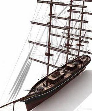 Sailboat free 3D model