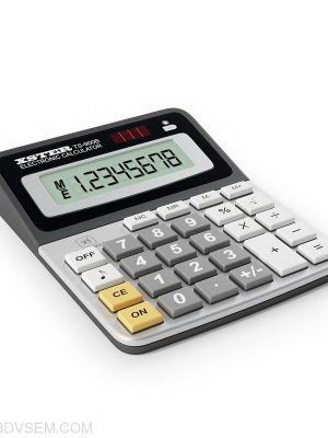 Electronic calculator 3D Model