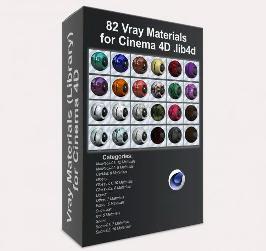 Free Cinema 4D Materials and Shaders - Free C4D Models