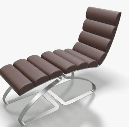 Leather Rest Chair 3D Model
