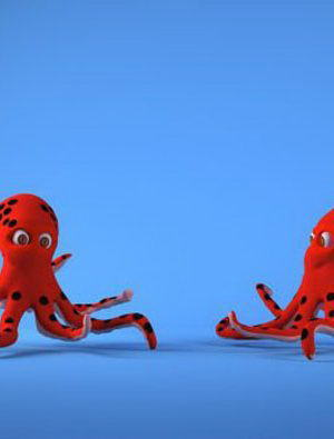 Red Octapus 3D Model