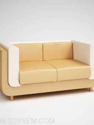 3D sofa model for Cinema 4D
